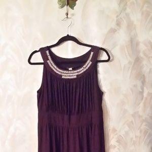 Maxi Jeweled Purple dress